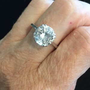 Vintage 10mm faux Diamond ring